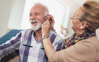 man hearing aid