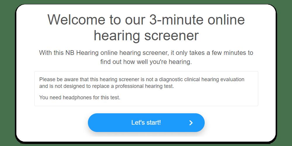 Hearing Screening Test